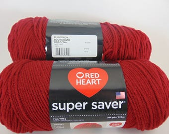 Burgundy -  Red Heart Super Saver yarn worsted weight - 2056