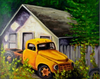 "Original Oil Unframed Artwork ""Old Friend """