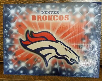 Denver Broncos airbrushed painting, 15X20 art board
