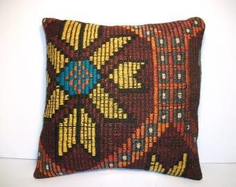 Star Style Pillow,Turkish Pillow,Office Pillow, Najova Pillow,Kilim Pillow,Kissen Pillow,Throw Pillow,Oriental Pillow,Handwoven Cusion,a111