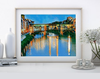 FLORENCE-Ponte Vecchio-Italian cities-art prints-indoor furniture-photo suitable for framing