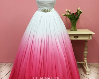 Ombre wedding dress, colored wedding dress, colorful wedding dress