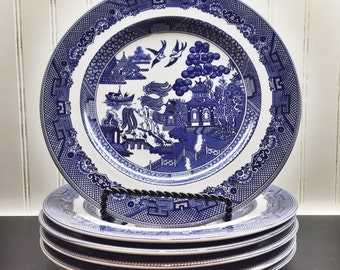 Johnson Bros Blue and White Salad Plates
