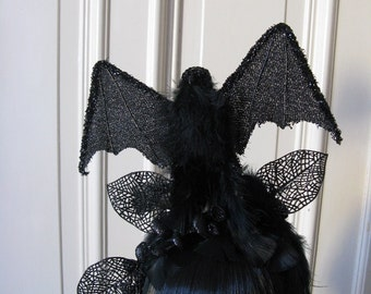 "Head dress ""Battie"" bat bat Gothic headpiece headpieces Goth Halloween"