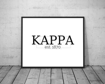 Printable KAPPA est. 1870