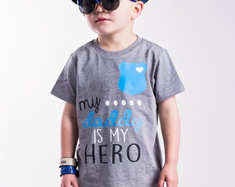 My Daddy is My Hero - Daddy is My Hero Tee - Police Shirt - Back the Blue Shirt - Hero t-shirt - First Responder shirt - Police Toddler