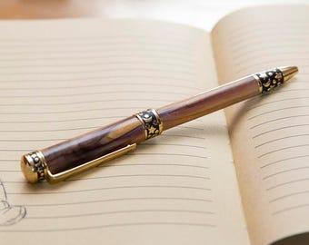 Wooden pen. Wood tarot Pen.  Choose your own wood - Wood pen Midnight Stars -Moon and Stars - christmas gift / birthday gift