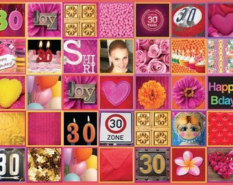 30 birthdaycake, Edible paper, cake Toppers, icing sheets, cake designs , gift for her, event planning, birthday party, pink and gold
