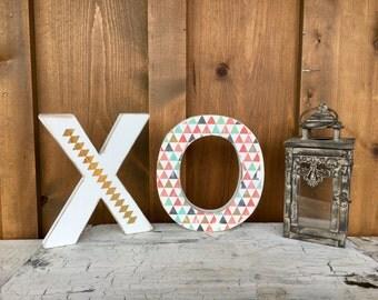 Wood XO Letters