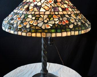 Mosaics Stained Glass Tiffany Lamp No.14, Decorative Glass Lamp