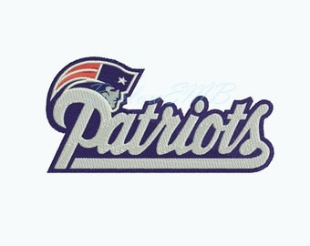3 Size Patriots Embroidery Designs Instant Download 8 Formats machine embroidery pattern