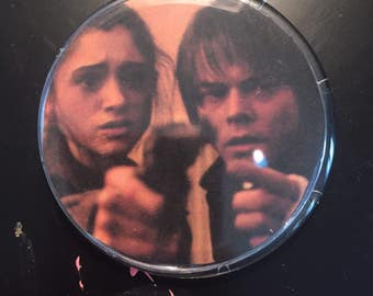 Nancy and Jonathan Stranger Things Pin Button