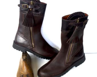 Boot // half boot // Leather boot // beef skin boot // stitched boot // contryside boots // camper boots