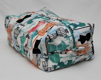 Dress Form Print Sewing Supply/Toiletry Bag