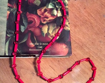 Cherry glass long necklace