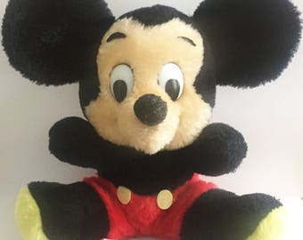 Vintage 1970s R Dakin Mickey Mouse Disney Soft Toy