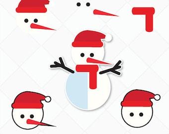 Snowman SVG Cutting File, SVG Cut table Design, svg, dxf, png Silhouette Studio & Cricut Instant Download - Snowman SVG