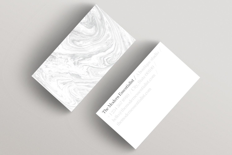 Modern Light Minimalist Business Card Template Business