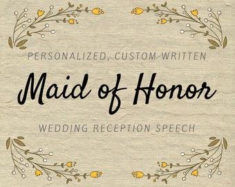 maid of honor speech personalized speech custom maid of honor toast bridesmaid speech