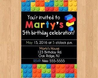 Digital File|Printed File|Legos|Lego|Lego Invitation|Lego Invite|Lego Party|Lego Birthday|Legos Party|Legos Birthday|Legos invite|