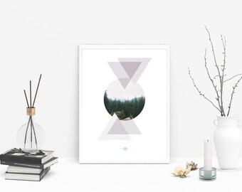 Forest Wall - Bosque Lámina Decorativa - Bosque Lámina Descargable - Bosque Lámina Imprimible - Bosque Lámina Digital