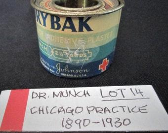 1930s DRYBAK Adhesive Plaster Roll Medical Dr Munch Chicago Johnson and Johnson Vintage