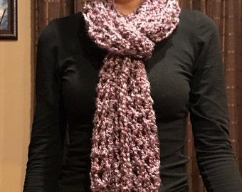 Homespun Finger Crochet Scarf