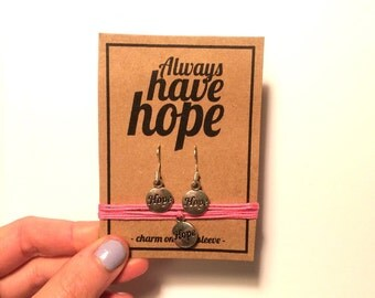 Always have hope earring bracelet gift set
