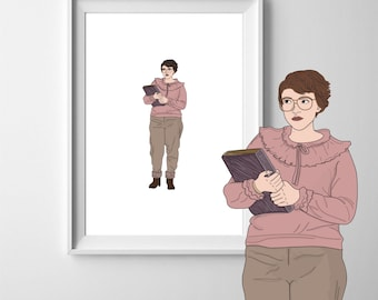 Barb Stranger Things A4 Art Print
