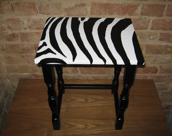 Side Table Zebra print