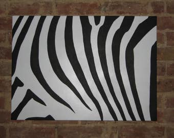 CANVAS Zebra Pattern