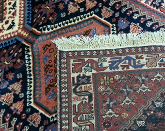 Persian rug Jalameh 12.8 × 2.7 ft 390 × 80 cm hand made, very fine, runner