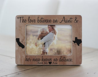 long distance aunt states frame personalized gift aunt auntie niece nephew distance picture frame