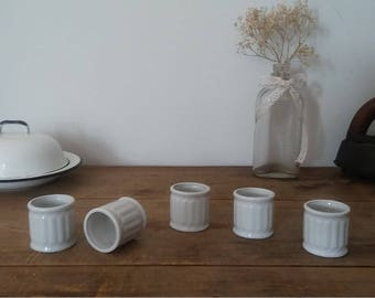 white porcelain, napkin rings, white ceramic, porcelain rings, vintage porcelain, shabby chic, french cottage,