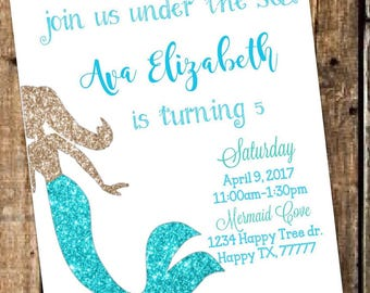 Mermaid Invite