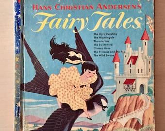 Vintage Children's Fairy Tales - 1950's Book - Ephemera - Scrapbooking