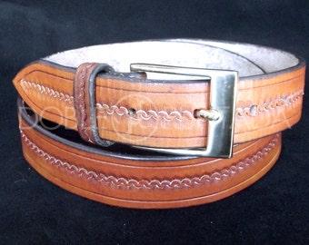 Hand-engraved belt