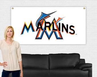 Miami Marlins Banner 3 ft x 6 ft   Marlins Banner