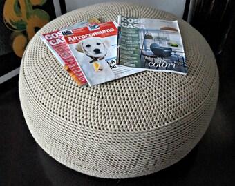 Crochet Pouf Poof, Ottoman, Footstool, Home Decor, Pillow, Bean Bag, Floor cushion Floor Puff