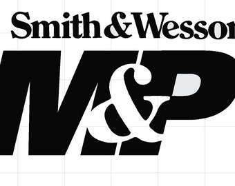 Smith and Wesson MP Logo Vinyl decal, /car / truck/ laptop