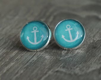 Earrings, 16 mm, clip-on earrings / ear plug anchor
