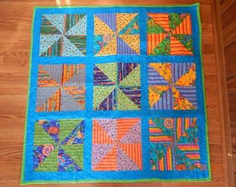 """Baby Quilt - 12"""" Pinwheel blocks"""