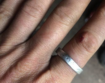 Delicate hand forged iron ring