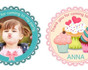 SALE - Gift Tags / Favour Thank You Cards Cupcake/Bake/Sweet party printable personalised party birthday label digital