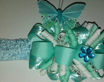 Over the top boutique hair bow/Photography baby prop/Baby headband/Butterfly bow