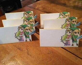 12 Legend of Zelda Place Food Tent Cards