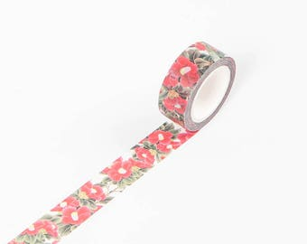 Washi Tape - Flora Washi Tape - Japanese Washi Tape - Decorative Washi Tape - Masking Tape - Deco Tape - Deco Masking Tape