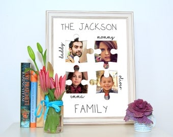 Personalized Family Picture Frame, Custom Family Gift, Family Portrait,  Family Print, Family Gift Ideas, Gift For Parents, Parents Gift