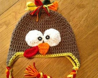 Very cute turkey hat, handmade
