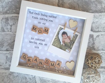 Mothers Day Gift,Grandma Frame, Nana Scrabble Art Frame, Gift For Nana, Mothering Sunday Gift, Present For Gran, Personalised Mother Gift